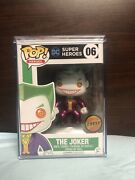 Funko Pop Dc Super Heroes 06 The Joker Limited Chase Edition Hard Stack Free