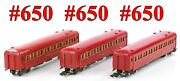 American Flyer Pw 650 650 650 New Haven Red 3-cars Link Couplers 1947-53