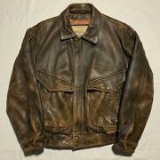 Vintage Lamb Leather Flight Jacket Blouson Brown Menand039s Outer Rare Old Clothes