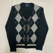 Fred Perry Argyle Multicolor Knit Sweater Cardigan Menand039s Size S Rare Old Clothes
