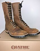 Olathe Western Square Toe Packer/p5 Boots Size 12d - Cut 201098
