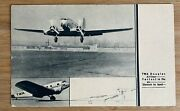 Airline - Twa Dc-2 1930's Airline Issued Postcard