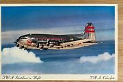 Airline - Twa Stratoliner1940's Airline Issued Postcard