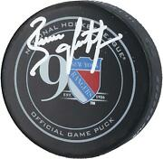 Brian Leetch New York Rangers Signed 90th Anniversary Season Official Game Puck
