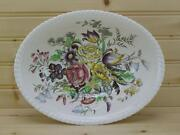 Johnson Brothers Garden Bouquet 9andfrac34 Oval Vegetable Bowl - Windsor Ware England