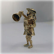 Vintage 9ct Gold Town Crier Charm