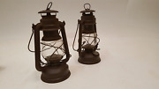 Pair Of Collectable Feuerhand No 275 Baby Hurricane Lamp / Lantern 38654