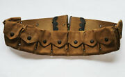 Wwi Us M1910 Cartridge Belt Ammo American Eagle Snaps Buttons