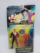 Batman Forever Two Face Action Figure Kenner 1995 W Cannon And Good/evil Coin