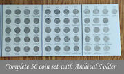 Complete Set Of 56 National Park Atb Quarters W/ Folder - Uncirculated 2010-2021