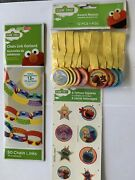 Sesame Street 1st Birthday Party Chain Garland Favors Tattoos Medals Decor