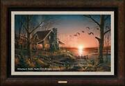 Terry Redlin Comforts Of Home Framed Legacy Canvas Limited Edition