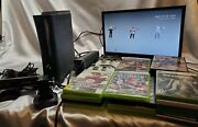 Microsoft Xbox 360 Elite Console Controllers Cables Bundle W/ 20 Games Kinect