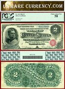 1886 2 Silver Certificate The Hancock Note Fr-241 Small Seal Pcgs Au58