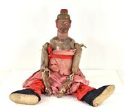 Antique Chinese Hand Painted Wooden Mobile Puppet Doll