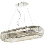 Alice Terrace - 38.5 Inch Eight Light Pendant Chrome Finish With Clear Glass -