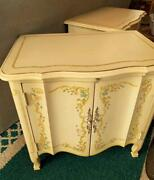Vintage Heritage Drexel End Table Venitian French Provincial Hand Painted
