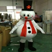 Snowman Mascot Costumes Christmas Cosplay Furry Suits Party Game Dress Outfits