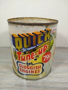 Dri-powr Quick Tune Up Old Tin Oil Can One Pint. Engine Gas Tank. Cool Graphics