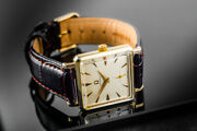 Menandrsquos Vintage 28mm Rare 14k Solid Gold Omega Square Manual Wind Watch From 1952