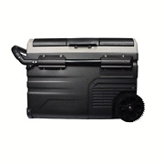35l/37q 12v Compressor Powered Dual Zone Camping Car Fridge/freezer With Wheels