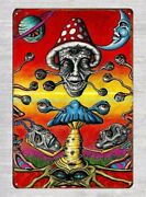 Acid Trippy Psychedelic Art Metal Tin Sign Room Wall Lodge Cafe