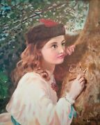 Masterpiece Girl In Love Oil On Canvas By Mississippi Artist Guy Foster
