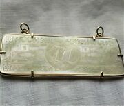 14k Gold And Mother Of Pearl Antique 1720-1840 Chinese Gambling Chip Pendant