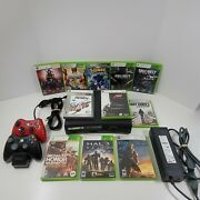 Xbox 360 Elite Console 120gb With 11 Games And 2 Wireless Controllers