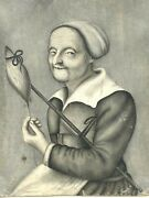 Portrait Flemish And Painting On Vellum In Grisaille And Xvii Th Century And 17 Th