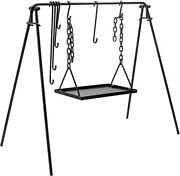 Bruntmor Grill Swing Campfire Cooking Stand Bbq Grill For Cookware And Dutch Ovens
