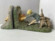 Classic Winnie The Pooh Bear Disney Charpente Michel And Company Book Ends Vintage