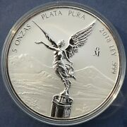 2018 Mexico Libertad 5 Oz Reverse Proof Silver Coin In Capsule Mintage 2100