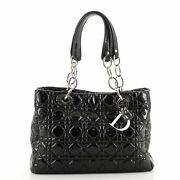 Christian Dior Soft Chain Tote Cannage Quilt Patent Small