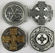 4 X Celtic Related Metal Belt Buckles Tanside Dragon Designs 2006 And 2007.