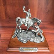 Chilmark Pewter Francis J Barnum Sculpture Of Lee To The Rear 611