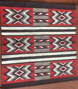 Vintage/antique Red Native American Indian Navajo Handwoven Textile Tapestry Rug