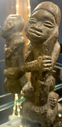 Old African Carved Man Artifact Relic Statue Sculpture Stone Carving Primitive