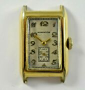 Vintage Hamilton Rare 19j 401 Manual Wind 14kgf Case Wrist Watch Runs Lot.e