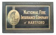National Fire Insurance Company Of Hartford Metal Etched Sign