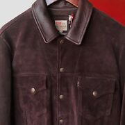 Leviand039s Vintage Clothing 1960s Big E Brownie Suede Trucker Jacket Italy Made Sz M