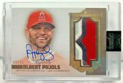 Albert Pujols 2019 Topps Dynasty 4 Color Gu Patch Autograph Auto And039d 8/10 Angels