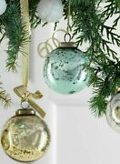 Serene Spaces Living Set Of 12 Vintage Style Glass Ball Ornaments For Xmas Tree