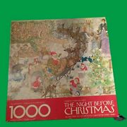 Vintage Springbok Twas The Night Before Christmas Puzzle 1000 Pcs 100 Complete