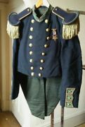 New Hampshire Militia Tailcoat, Trousers, Epaulettes, And Gar Medal, Staff Buttons