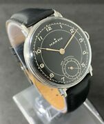 Very Rare Vintage Wwi Menand039s Manual Wind Watch Marvin 1940and039s 17 Jewcal.1148