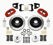 Wilwood Narrow Superlite 6r Front Hub And 1pc Rtr Kit 12.88in Dril -red 62-72 Cdp
