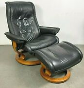 Ekornes Stressless Modern Leather Reclining Chair Large Sized Royal Model