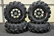 Brute Force 650i Irs 25 Executioner Atv Tire And Hd3 Black Wheel Kit Irs1ca