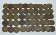 Coin Roll 1920 Lincoln Wheat Cents Penny 50-pennies Lot Set Collection - Le120